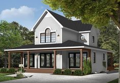 Find your dream country style house plan such as Plan which is a 1955 sq ft, 3 bed, 2 bath home with 0 garage stalls from Monster House Plans. House Plans 3 Bedroom, Cottage House Plans, Small House Plans, Cottage Homes, House Floor Plans, Farmhouse Plans, Modern Farmhouse, Farmhouse Style, Monster House Plans