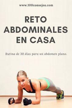 Esculpe tu cuerpo con este reto para abdomen plano en 30 días. | reto abdomen 30 días | ejercicios para abdomen en casa mujeres | #workout Good Habits, Workout Challenge, Healthy Living, Health Fitness, Exercise, Fitness Challenges, Cardio, Beautiful, Sailing