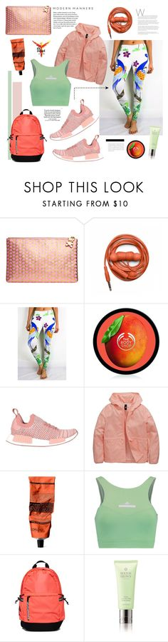 """SENI by FIT REBEL"" by bklana ❤ liked on Polyvore featuring Too Faced Cosmetics, Urbanears, The Body Shop, adidas Originals, adidas, Aesop, Superdry, Molton Brown, Loewe and bklana"
