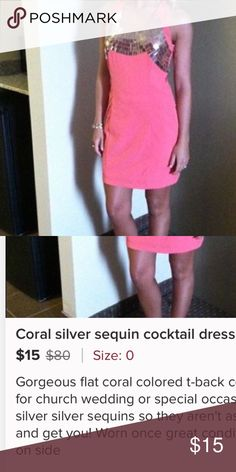 Dress coral pink Very nice dress perfect for clubbing party or cocktail Dresses Mini