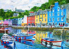 Tobermory Puzzle #jigsaw #puzzle #christmas #xmas #gifts #grandparents #children #hobby #fun #family #gibsons