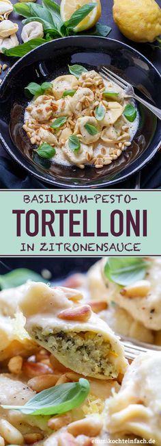 Basilikum Pesto Tortelloni in Zitronensauce - emmikochteinfach