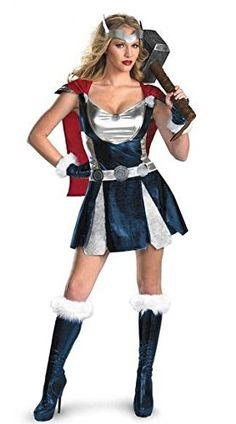 Disfraz Mujer Thor Vikinga Superheroe - 3 Piezas Vestido Cinturón Capa - Talla 36-40: Amazon.es: Juguetes y juegos