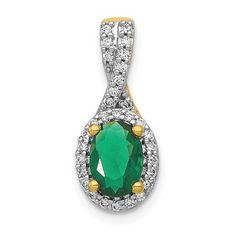 14k Diamond and Oval Emerald Halo Pendant / STYLE: PM5250-EM-013-YA #GemstoneJewelry #DiamondJewelry #Gemstones #DiamondandOvalEmeraldHaloPendant #OvalEmeraldPendant #14k #Diamonds #EmeraldHaloPendant Emerald Pendant, Emerald Stone, Oval Diamond, Diamond Stone, Birthstone Jewelry, Gemstone Jewelry, Gold Material, Gemstone Colors, Or Rose