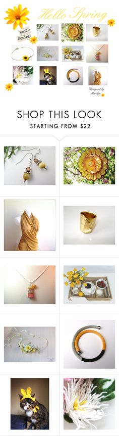 """Hello Spring"" by therusticpelican ❤ liked on Polyvore featuring modern, contemporary, rustic and vintage"