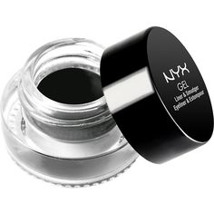 NYX PROFESSIONAL MAKEUP Gel Liner and Smudger (6.675 CLP) ❤ liked on Polyvore featuring beauty products, makeup, eye makeup, eyeliner, nyx, nyx eyeliner, gel eye liner, gel eye-liner and gel eyeliner