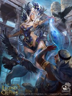 Woman bird envolved legend of the cryptids