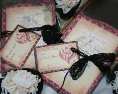 Gothic Wedding Invitations - Vintage Gothic theme