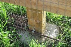 Put rebar at the bottom of fences to help deter digging by animals. Would be hel. - - Put rebar at the bottom of fences to help deter digging by animals. Would be helped by adding flagstone or rocks next to the reba. Fence Landscaping, Backyard Fences, Garden Fencing, Pool Fence, Front Yard Fence, Fence Gate, Fence Panels, Diy Dog Fence, Horse Fence