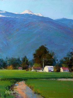 Valley Afternoon by Susan Ogilvie Pastel ~ 12 x 9