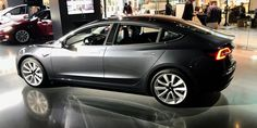 Tesla Model 3s are starting to show up in stores for the first time