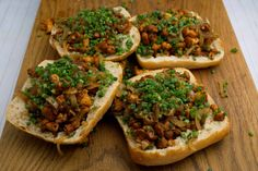 Sandwiches, Baked Potato, Tacos, Potatoes, Mexican, Baking, Ethnic Recipes, Food, Caramelized Onions