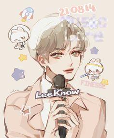 I Know You Know, Lee Know, Kids Fans, Kids Board, Art For Kids, Minho, Kawaii, Fan Art, Handsome Guys