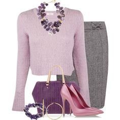A fashion look from September 2014 featuring A.L.C. sweaters, Sugarhill Boutique skirts and Casadei pumps. Browse and shop related looks.