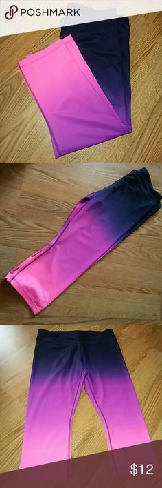 Workout Capris Ladies cute and colorful workout capri pants , gently wore a couple time's Xersion Pants