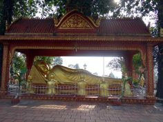 Reclining Buddha at Wat Krom Temple in Sihanoukville, Cambodia