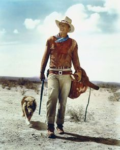 John Wayne strutting around the American West... does it get any more American than that?