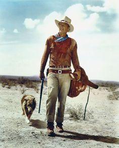 John Wayne y su perro mal genio.Para siempre