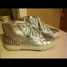 Supergra silver sneak Used studded Superga Shoes Sneakers