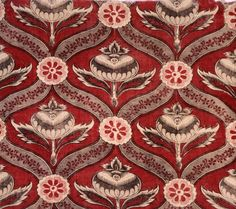 Pomegranate - - The Magazine Antiques  Textile Fragment c1760 Block printed cotton plain weave