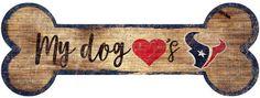 NFL Houston Texans Dog Bone Wall Sign