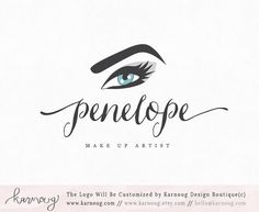 Make up LogoEye LogoEyebrow LogoMake up Artist by karnoug on Etsy