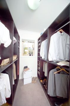 We will cleverly design his and hers wardrobes into any space. Walk In Wardrobe Design, Walk In Robe, Bed Wall, Joinery, Wardrobes, Storage Solutions, Home Office, Custom Design, Space