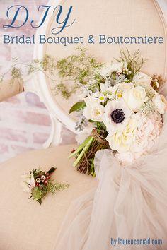 Wedding Bells: DIY Bridal Bouquet and Boutonnière from LaurenConrad.com