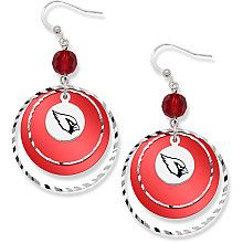 Arizona Cardinals Game Day Earrings.