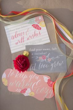 paper goods, photo by She Wanders Photography http://ruffledblog.com/del-mar-powerhouse-wedding #weddingideas #papergoods #stationery