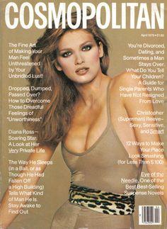 Gia Carangi on the cover of Cosmopolitan, April 1979. Photo by Francesco Scavullo. (1960 - 1986)
