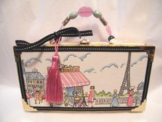 Eiffel Tower French Paris Cafe Cigar Box Purse/Made to Order. $24.00, via Etsy.