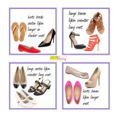 Schoenen kunnen je voeten kleiner of groter en je benen langer of korter laten lijken | www.lidathiry.nl | klik op de foto voor meer details
