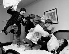 "The Beatles Pillow Fight Photo Print 14 X 11"""
