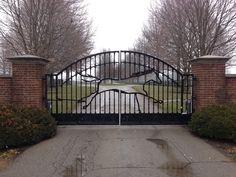 Custom made Lucas Equine Equipment entrance gates.
