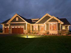 House Design craftsman rambler | ... Unique House Plans, Home Plans and Floor Plans at TheHousePlanShop.com