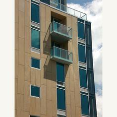 220 St Nicholas, Boutique floor thru Apartment Building | Jeffrey Cole Architects Note the Balcony detail