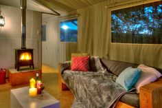 Winter time at AfriCamps Glamping Klein Karoo, South Africa