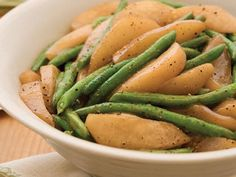 Sautéed Green Beans and Pears | Savor the robust flavors of autumn by using the season's bounty in unique side dish recipes that are easy to make and even easier to enjoy.