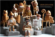 Greek Gods of War Custom Playmobil Figures Image only - Links to FB