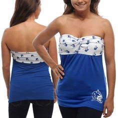Duke Blue Devils Women's Flirty Repeat Tube Top - Duke Blue/White - $34.99