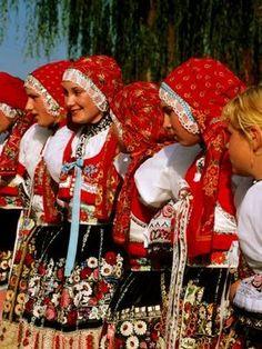 Women Wearing Folk Dress During St-Wenceslas Feast Festival Kyjovska Vs Moravany Czech Republic