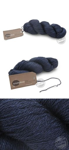 Lantern Moon 4-Ply Yarn (Midnight). Click: http://www.craftsy.com/ext/20121107_YarnPin2