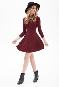 Crochet Collar A-Line Dress | FOREVER21 - 2000058726