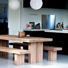 Ethnicraft Teak Double Dining Table 1.8mThe Block Shop - Channel 9