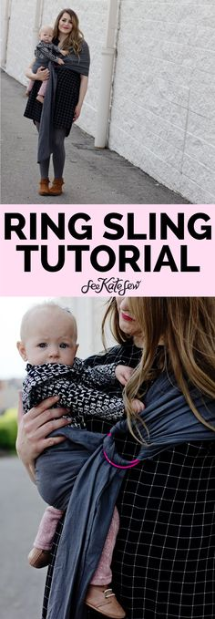 Make a ring sling for baby wearing.