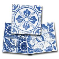 Blue and White Victorian Delft Tiles . Victorian Tiles, Victorian Fireplace, Kitchen Tiles, Kitchen Reno, Delft Tiles, Glazing Techniques, Tile Manufacturers, Fireplace Surrounds, William Morris