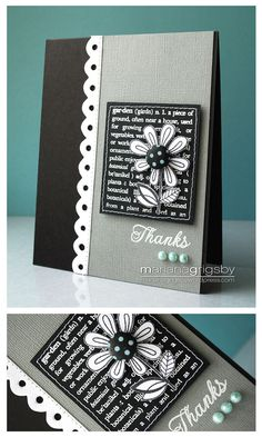 Love the gray and black with white embossing!