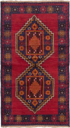 Traditional Tribal Style Rug With Cream Dark Brown
