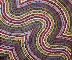 NUNGURRAYI MICHELLE POSSUM (née en 1968) WORM DREAMING, 2010 Acrylique sur toile (Belgian linen)